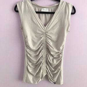 GAUDì Ruched Sleeveless Top